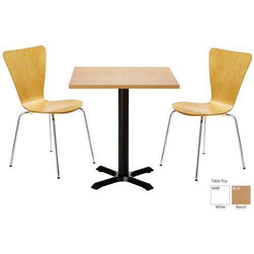 Orlando Dining Square Tbl Blk Beech Top